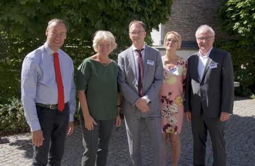 v.l.n.r.: Thomas Krüger, Monika Grütters, Tobias J. Knoblich,  Barbara Neundlinger, Norbert Sievers